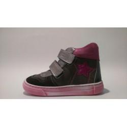 Szamos 1428-40172 szürke pink átmeneti cipő