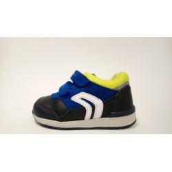 Geox B840RA-08522 lélegző bőr kék átmeneti cipő