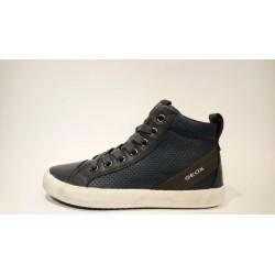 Geox J842CI-0BU43 kék lélegző bőr átmeneti cipő