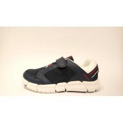 Geox J929BB-01443 lélegző bőr kék fehér átmeneti cipő