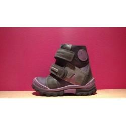 Szamos TEX-es lila szürke téli bélelt cipő