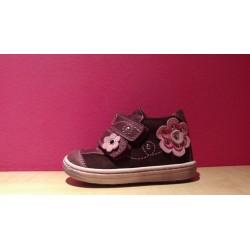 Szamos supinált bordó pink virágmintás lány cipő