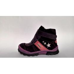 Szamos 1394-58614 TEX es vízálló lila téli bélelt cipő