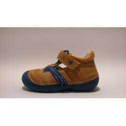 D.D.Step 015-146B barna kék fiú szandálcipő