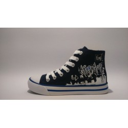 S.Oliver 5-45106-20  kék fűzős cippzáros átmeneti cipő