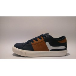 S.Oliver 5-53100-30-891 kék barna átmeneti fiú cipő