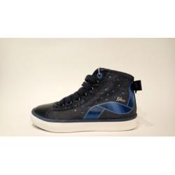 Geox J8204B-0ASKC kék lélegző bőr átmeneti cipő